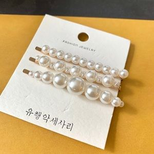 Set of three Beautiful Faux Pearl Hair Pins